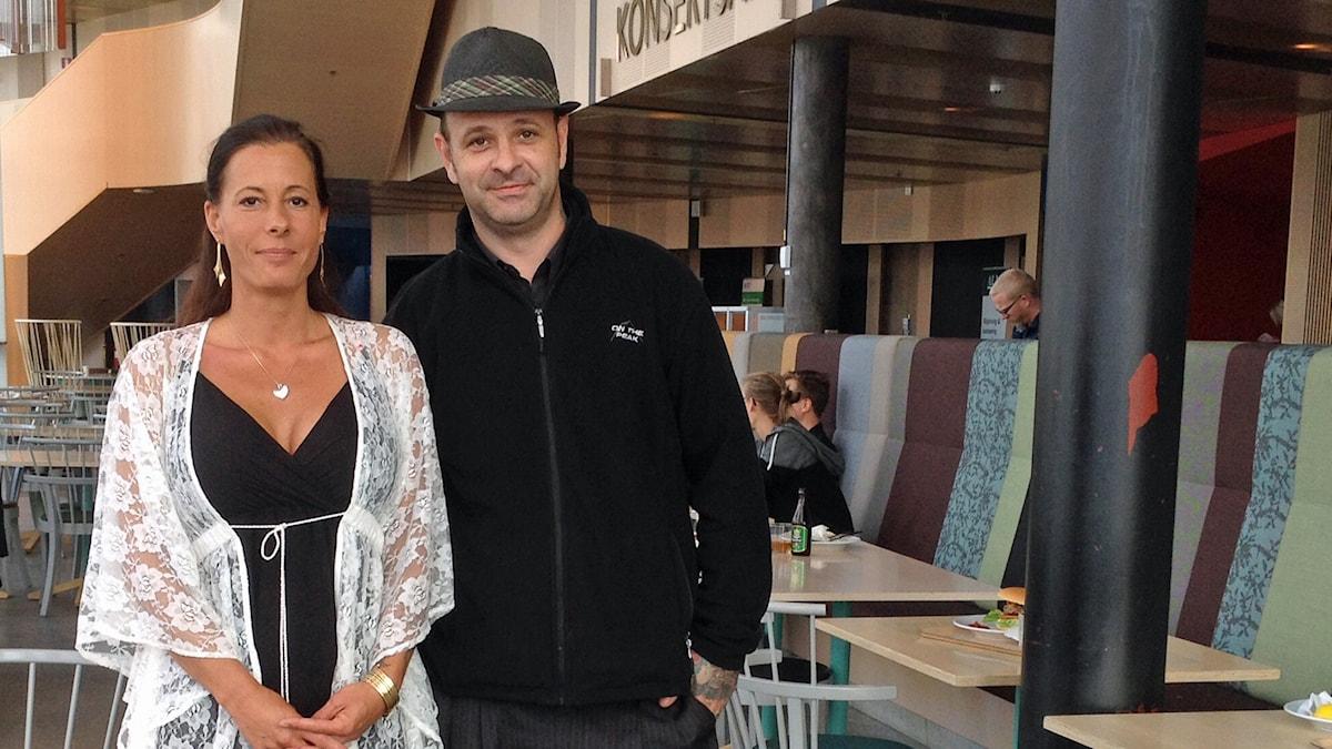 Linda Krantz och Ralf Novak. Foto: Karin Selldén/Sveriges Radio