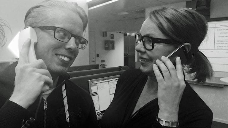 Fast telefoni eller mobil? Foto: Sveriges Radio