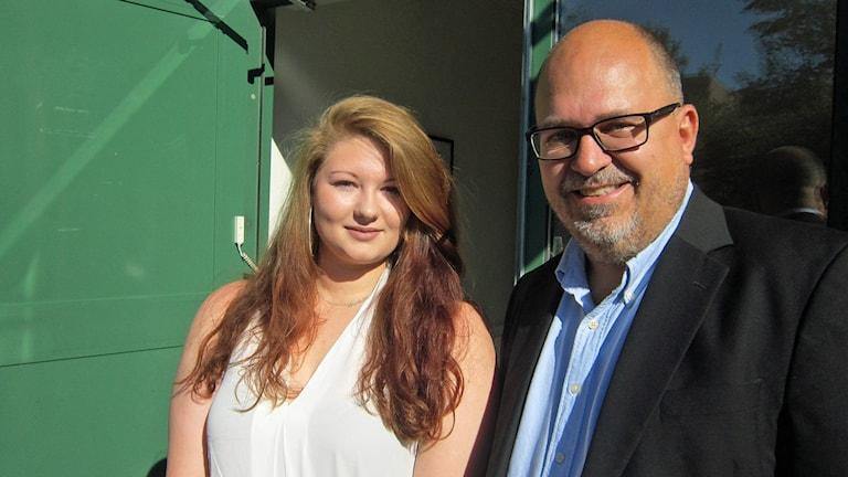 Nathalie Skarbinski och Karl-Petter Thorwaldsson. Foto: Oskar Mattisson/Sveriges Radio