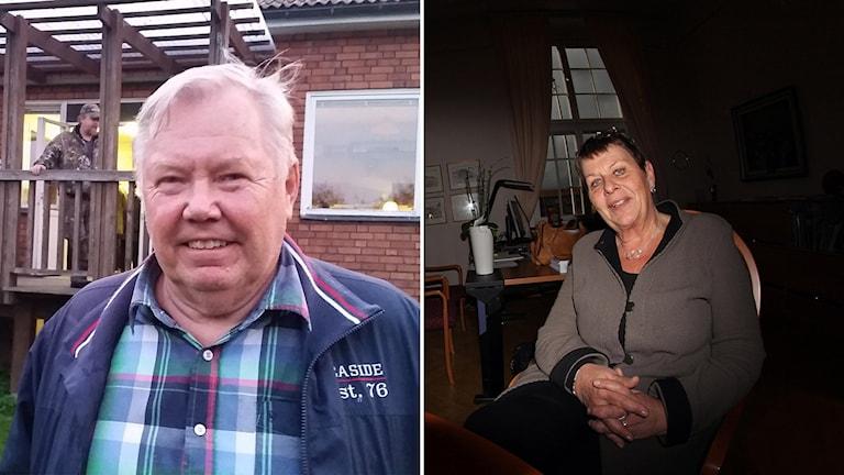 Bert Karlsson och Anci Magnusson. Foton Sofie Lind/Sveriges Radio och Paul Zyra/Sveriges Radio