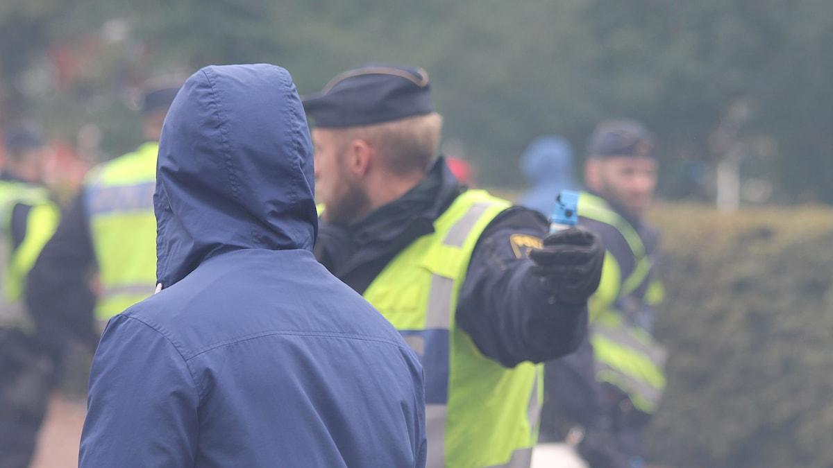 Polisövning i Jönköping. Foto: David Westh/Sveriges Radio