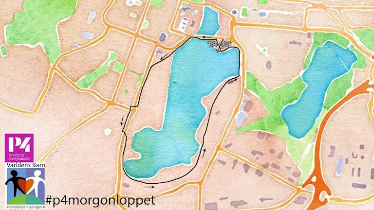 P4 Morgonloppet, karta