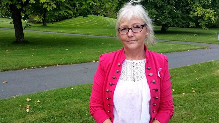Maggie Målevik, bröstcancerföreningen Victoria. Foto: Therese Edin/Sveriges Radio