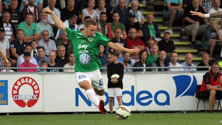 J-Södra-spelare. Foto: Patrik Bromander/Sveriges Radio
