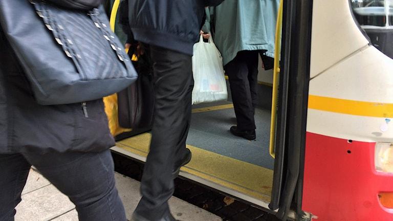 Busspassagerare. Foto: David Westh/Sveriges Radio
