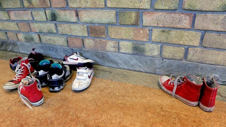 Skor i korridor. Foto: Janerik Henriksson/TT