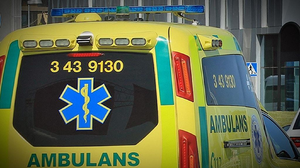 Ambulans. Arkivbild, foto: David Westh/Sveriges Radio