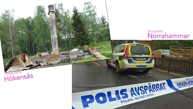 Misstänkta dubbelmorden Norrahammar och Hökensås. Arkivbilder/Sveriges Radio