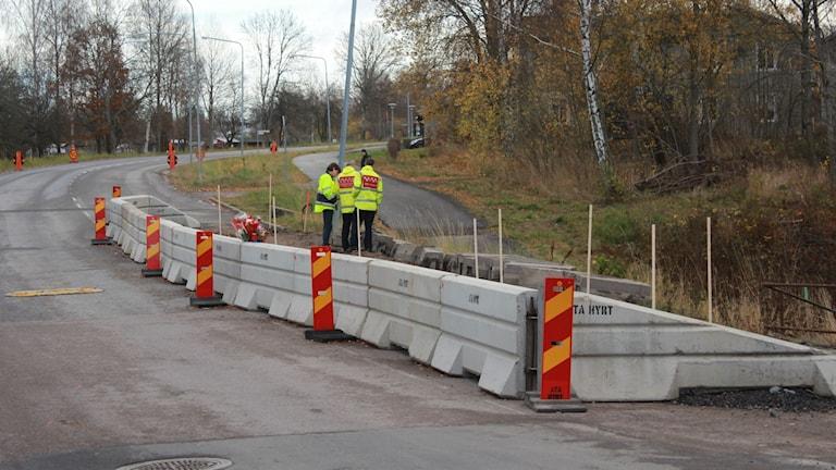 Syn vid olycksplatsen.  Foto: Tommy Alexandersson/Sveriges Radio
