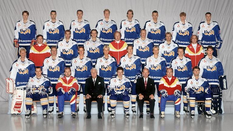 Lagbild HV71 1994/95. Foto: Fotokenne.se