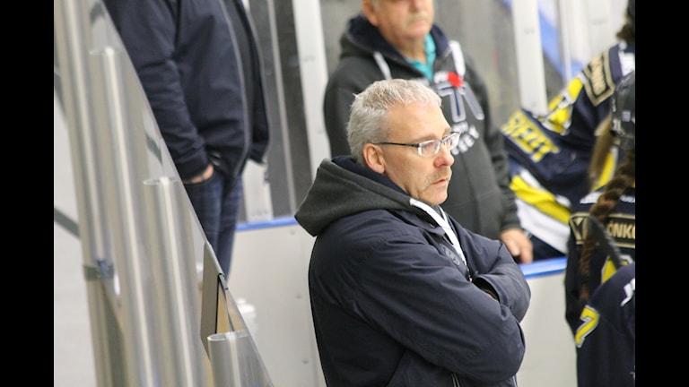 HV71:s tränare Ulf Johansson. Foto: Patrik Bromander/Sveriges Radio