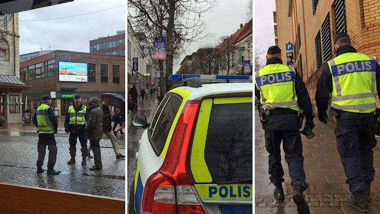 Poliser i Jönköping. Foton: David Westh/Sveriges Radio