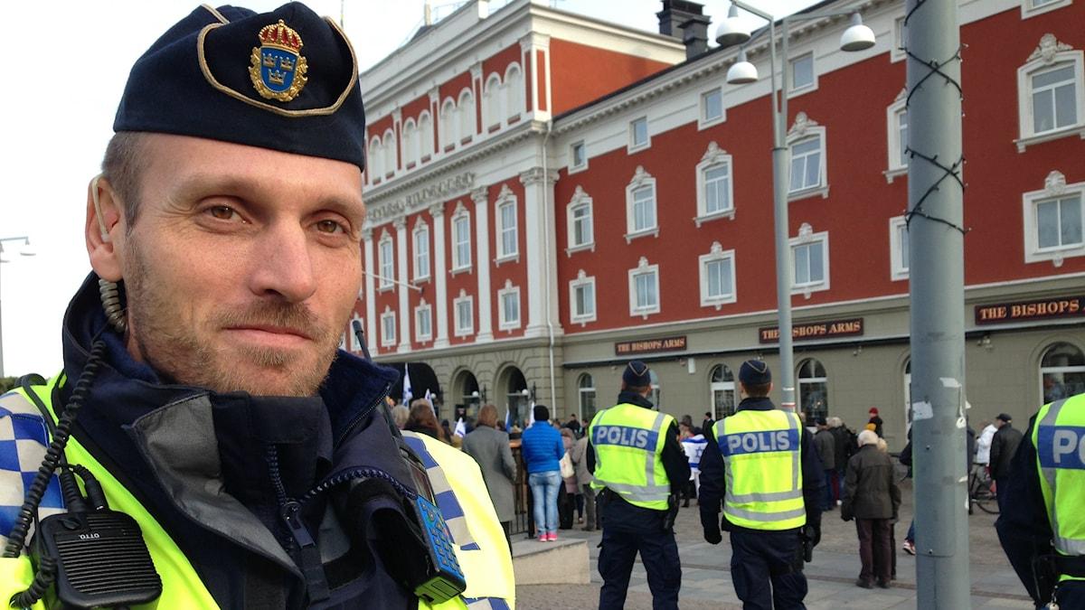 Polisinsatschef Mattias Ramsö. Foto: Lennart Broman/Sveriges Radio.