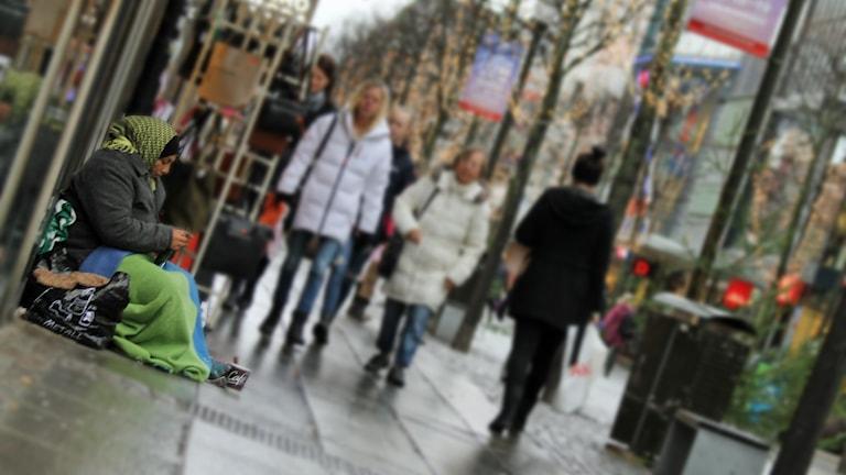 Julhandel. Foto: David Westh/Sveriges Radio