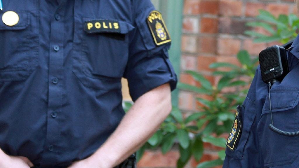Polis. Foto: David Westh/Sveriges Radio