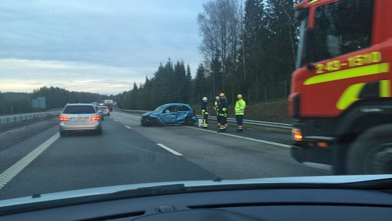 Trafikolycka. Foto: Toni Galic/Sveriges Radio