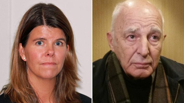 Åklagare Pernilla Törsleff och försvarsadvokat Leif Silbersky. Arkivbilder/Sveriges Radio