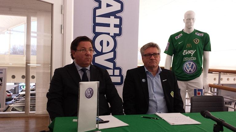 Dan Jonsson och Sune Lantz på J-södras presskonferens
