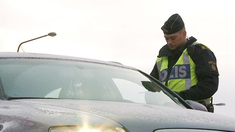 Poliskontroll. Arkivbild, foto: Anna Eriksson/TT