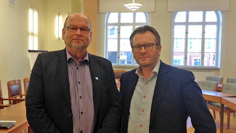 Lars-Erik Fälth och Andreas Sturesson. Foto: Josefine Koca/Sveriges Radio