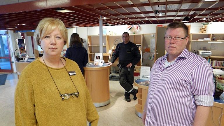 Lotta Boström och Jonas Karlsson. Foto: Lennart Broman/Sveriges Radio