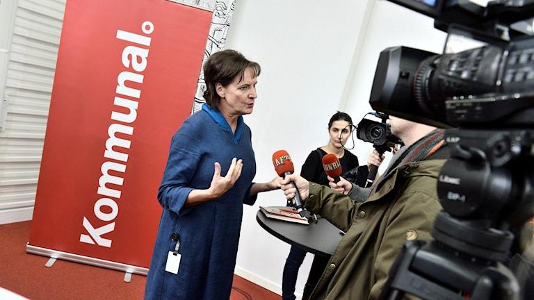 Annelie Nordström, Kommunal. Foto: Claudio Bresciani/TT