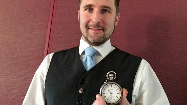Klockexpert Petter Thörning. Foto: David Westh/Sveriges Radio