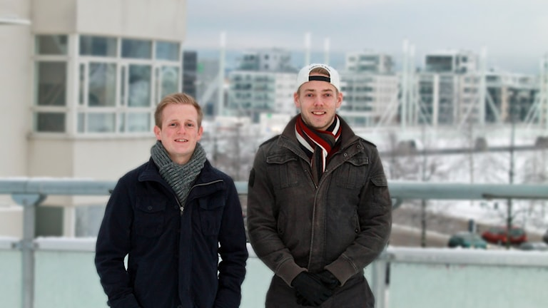 Paul Soergel och Fredric Gyllensten, Jibs. Foto: David Westh/Sveriges Radio