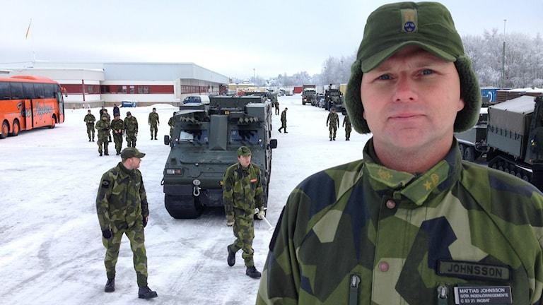 Major Mattias Johnsson om att Ing2 åker upp till Boden.