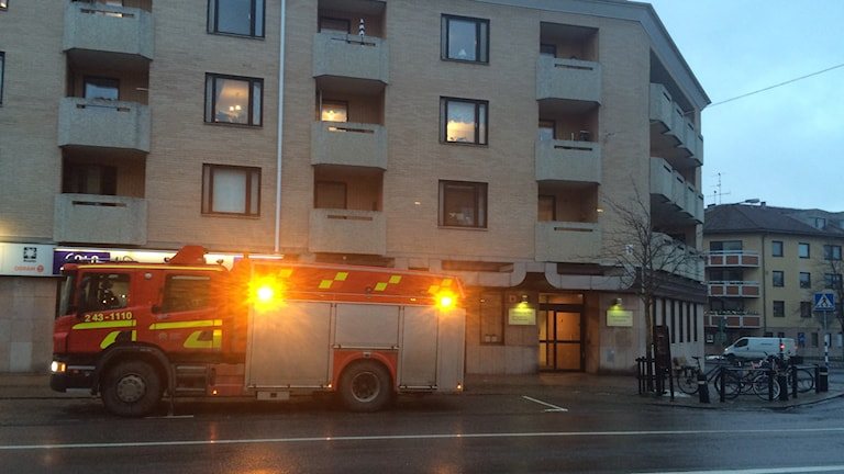 Brand på äldreboende i Jönköping. Foto: Peter Jernberg/Sveriges Radio