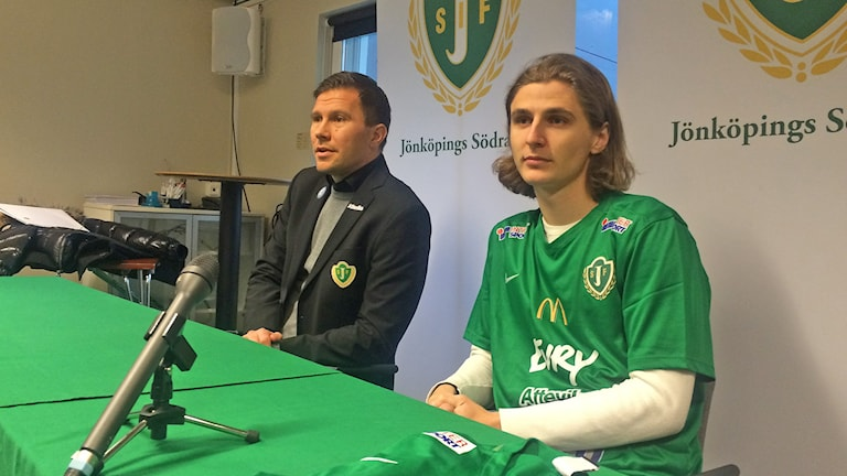 Pawel Cibicki och Christer Persson. Foto: Oskar Mattisson/Sveriges Radio