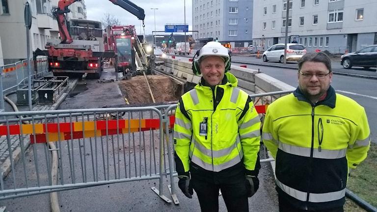 Fredrik Abrahamsson och Roger Rohdin. Foto: Therese Edin/Sveriges Radio