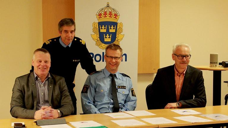 Kommunerna och Polisen pressenterade idag medborgarlöfte för Vaggeryd och Värnamo. Foto: Tommy Alexandersson/Sveriges Radio