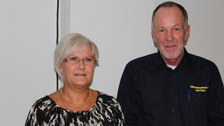 Kristina Fritz, SPF, och Gert Kvick. Foto: David Westh/Sveriges Radio