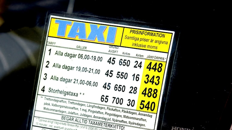 Taxi. Foto: Gunnar Lundmark / SvD /TT