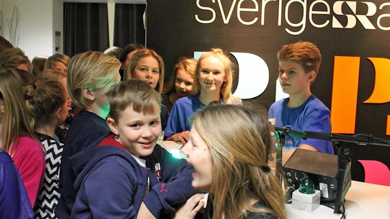 Hisingstorpsskolan jublar. Foto: David Westh/Sveriges Radio