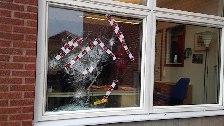 Vandalisering på Rosenlundsskolan i Jönköping