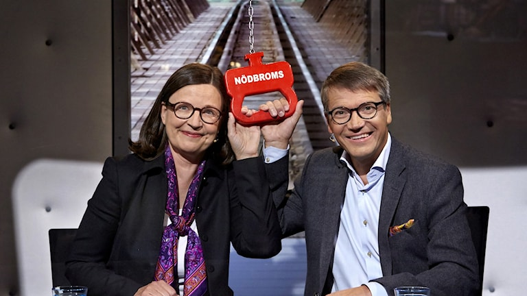 Anna Ekström och Göran Hägglund.