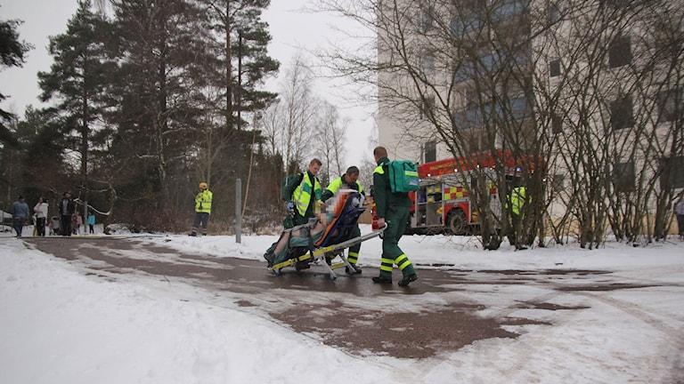 Lägenhetsbrand i Tranås.