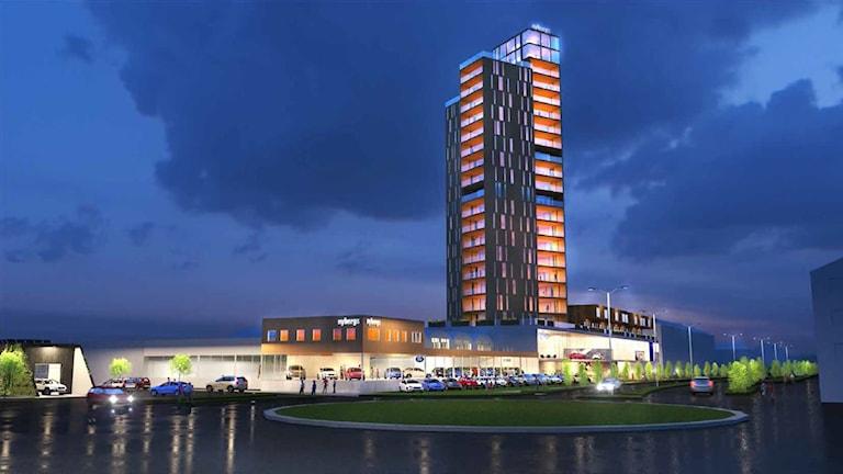 Nybergs Bil planerar att bygga Jönköpings högsta byggnad