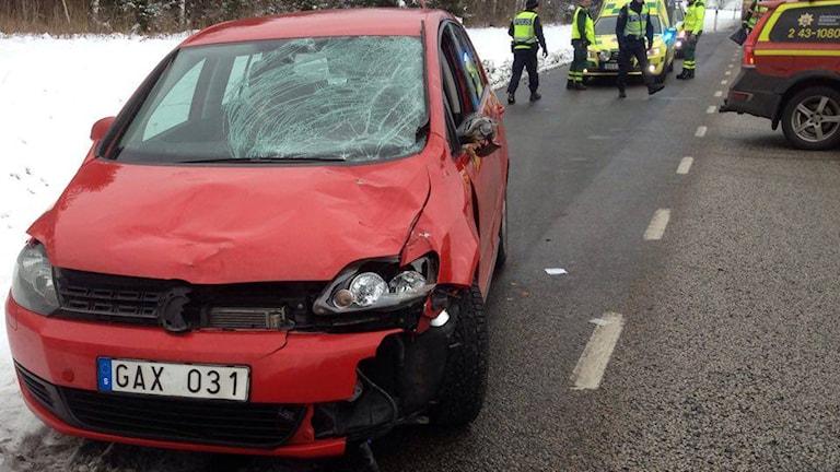 Ingemar Derneborgs bil blev rejält tilltyglad efter älgolyckan