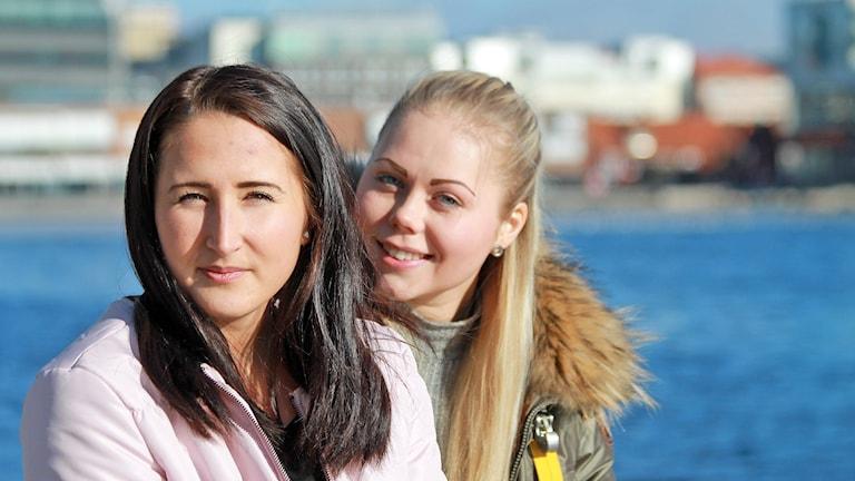 Fanny Rask och Sabina Eriksson, HV71.