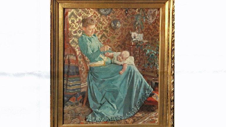 Tavla målad av Pelle Malmborg.