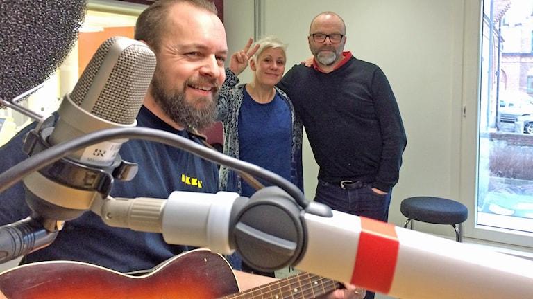 Johan Forsman med Sanna Hermansson och Dan Segerson