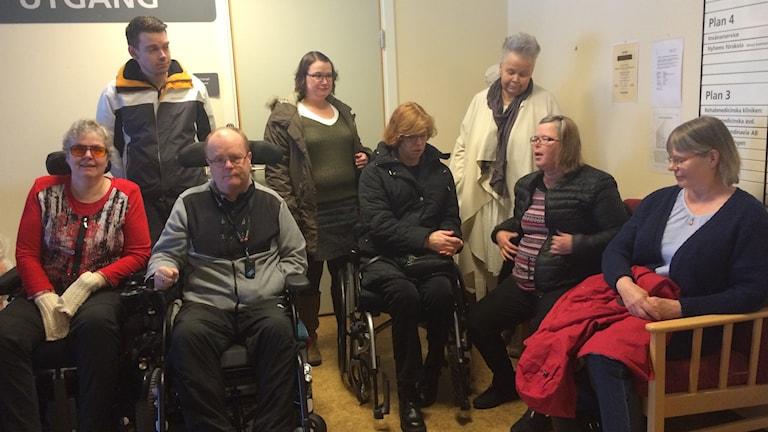 Patienter vid vårdavdelningen i Nässjö