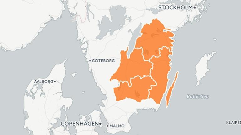 Så här föreslås den nya storregionen se ut.
