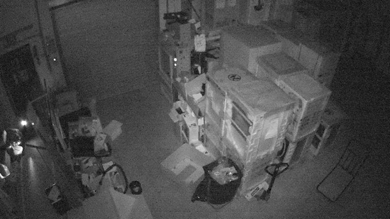 övervakningsbild från Elgiganten i Vetlanda.