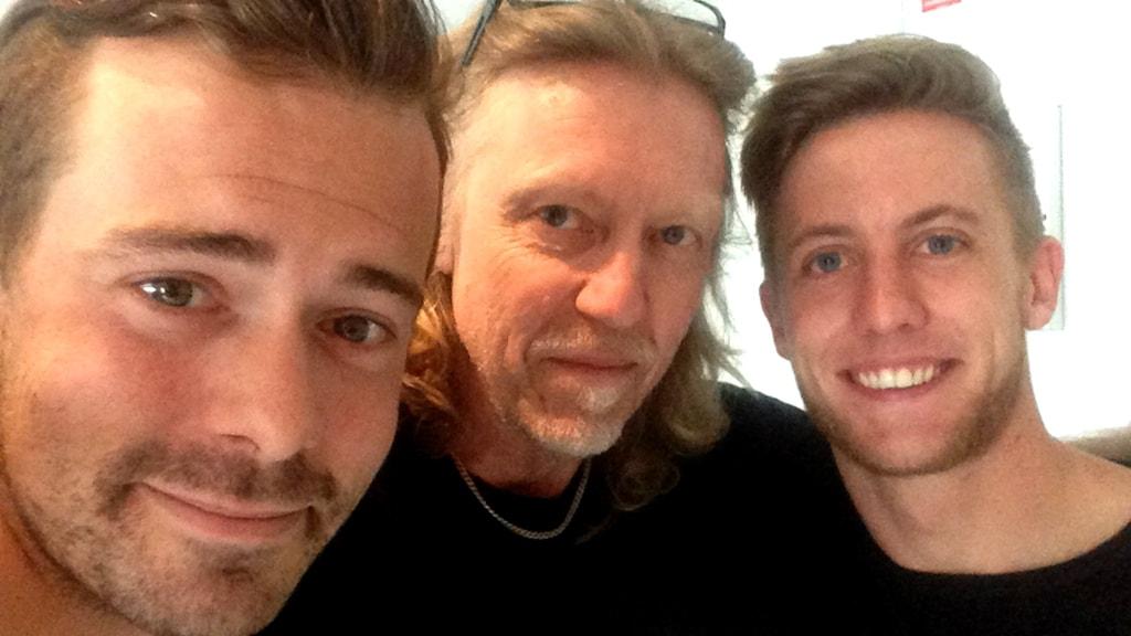 Fredric Fendrich, Hasse Pettersson och Jesper Svensson.