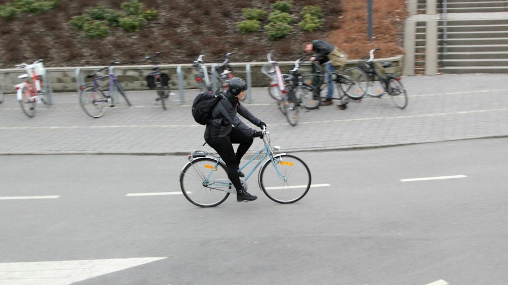 En cyklist.