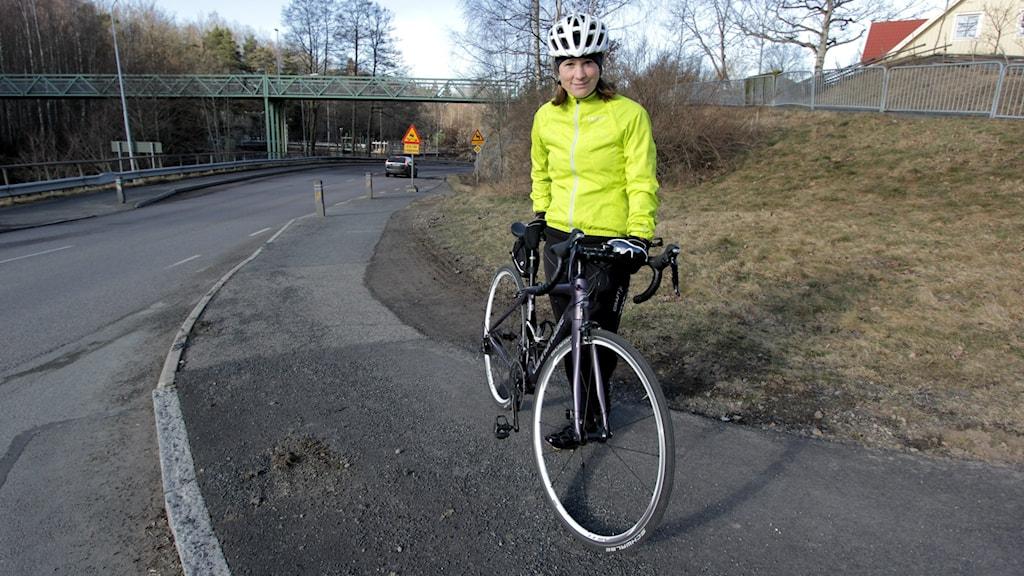 Cyklisten Linda Hassel.